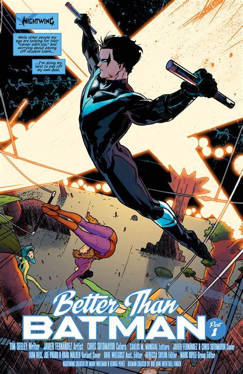 nightwing vol 4 blockbuster rebirth nightwing dc universe rebirth preview nightwing vol 1 better than batman all comic