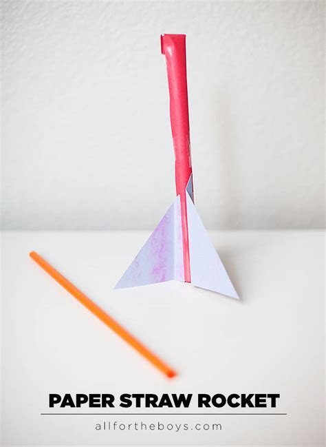 paper straw crafts space week part 2 paper straw rocket all for the boys