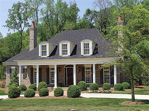 plantation style homes country plantation style house plan 17690lv 1st floor master suite acadian butler walk in