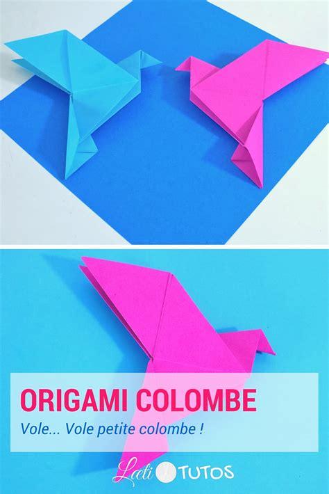 origami fr comment faire une colombe en origami tutoriel facile