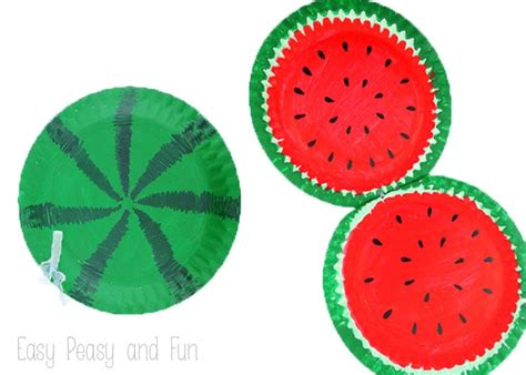plate crafts paper plate watermelon paper plate crafts easy peasy
