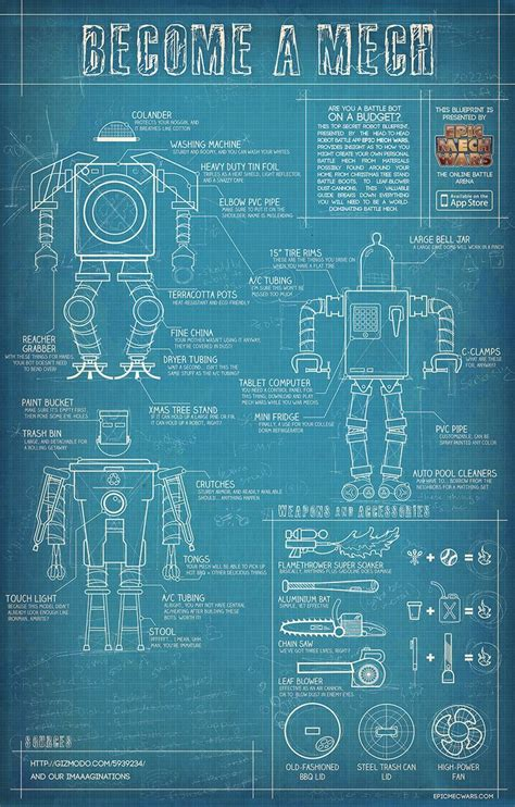 make blueprint build your own mech blueprints for diy