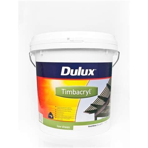 acrylic paint bunnings dulux timbacryl acrylic exterior 10l bunnings