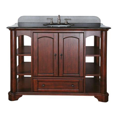 home depot bathroom vanities 48 avanity vermont 48 inch vanity in mahogany finish faucet