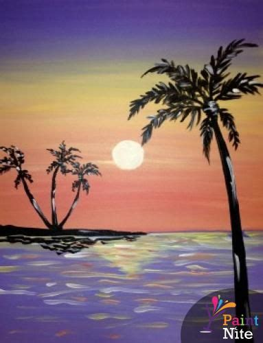 paint nite events on island 17 best images about sunset themed paintings on