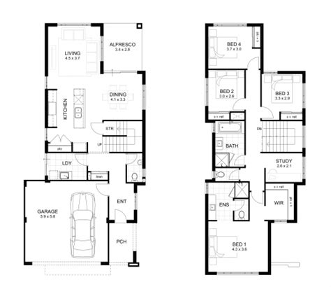 2 story house floor plans wonderful storey 4 bedroom house designs perth apg homes two storey house design with