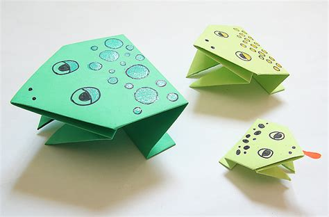 hopping frog origami simple origami jumping frogs 8 crafts to get