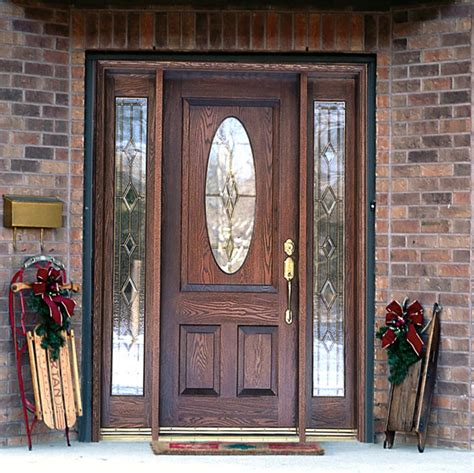 front doors with glass panels furniture brown wooden entry door with two panel and half
