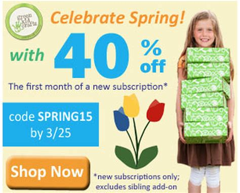 green kid crafts promo code green kid crafts coupon code 40 your month