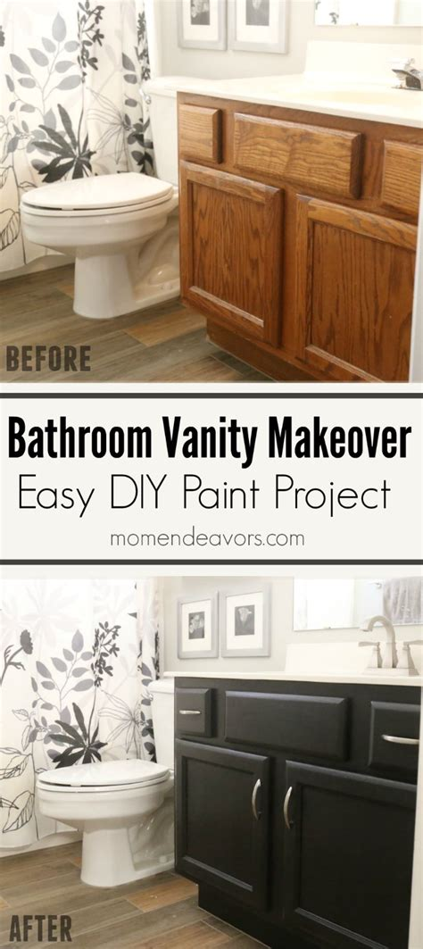 Makeover Bathroom Vanity by Bathroom Vanity Makeover Easy Diy Home Paint Project