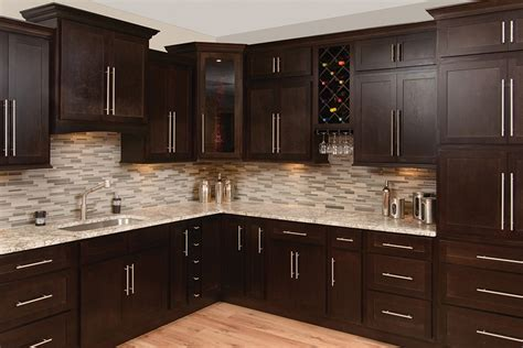 espresso shaker kitchen cabinets faircrest espresso shaker kitchen cabinets bargain outlet