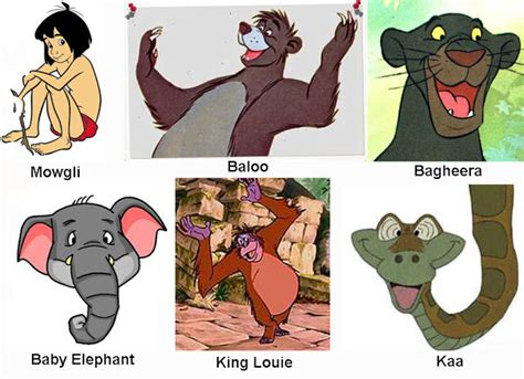 jungle book characters names and pictures jungle book characters names imagefiltr