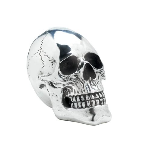 silver skull shining silver skull wholesale at eastwind wholesale gift