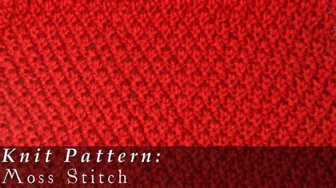 how to knit moss stitch moss stitch moss stitch knit