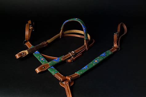 beaded tack sets product details quot teal garden quot handmade beaded tack set
