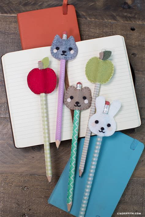 pencil topper crafts for kid s felt pencil toppers lia griffith