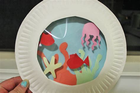 craft using paper plates paper plate aquarium my kid craft