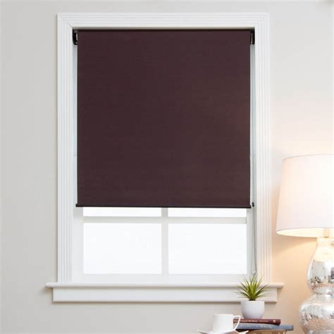 l shades with arlo blinds mocha brown blackout fabric shades ebay