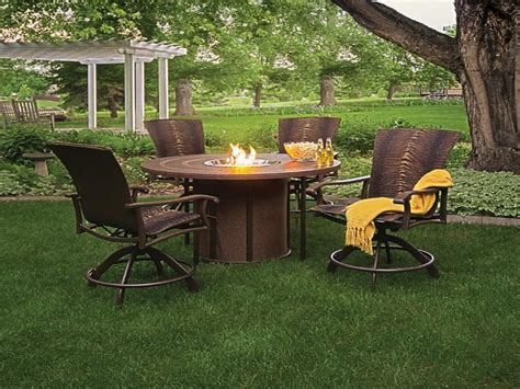 propane outdoor firepit propane pit sets with chairs pit design ideas