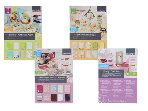 craft sets crelando paper craft set assortment lidl great britain