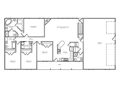house plans with room great room ranch house plan ranch houseplan with