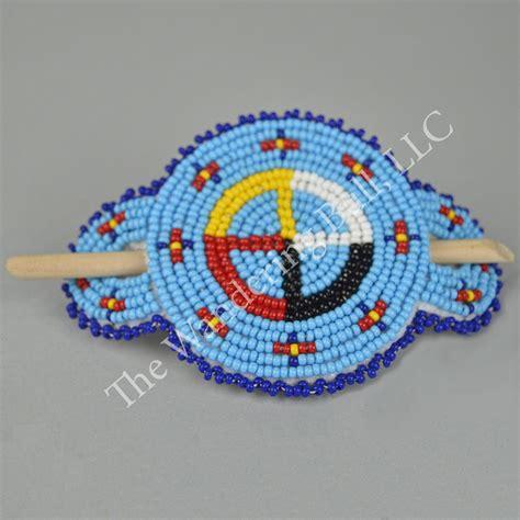 how to make american beaded barrettes beaded medicine wheel stick barrette wandering bull llc