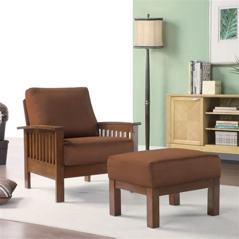 mission style living room chairs oxford creek marlin mission inspired arm chair ottoman