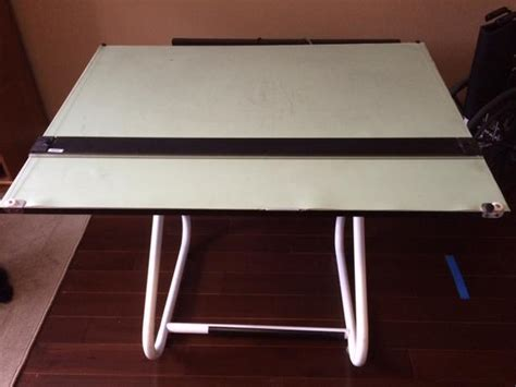 drafting table with sliding edge saanich