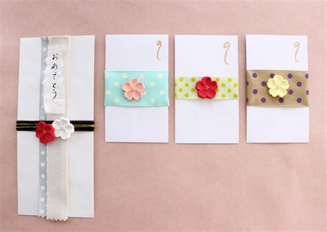 traditional japanese gift envelope deco clay craft academy