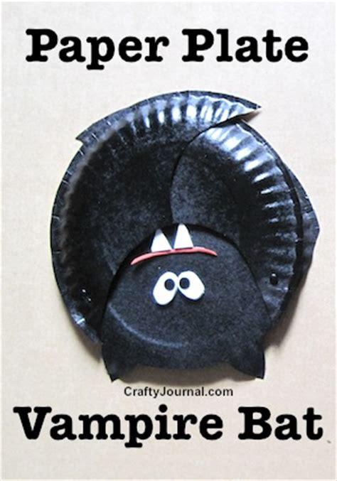 paper plate bat craft paper plate bat