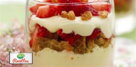recette facile verrines fraises sp 233 culoos et mascarpone