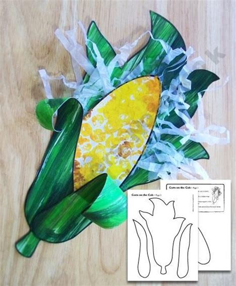 corn crafts for corn on the cob craft food preschool