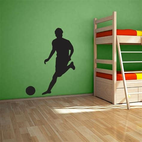 soccer wall stickers large soccer player wall decal wall decal world