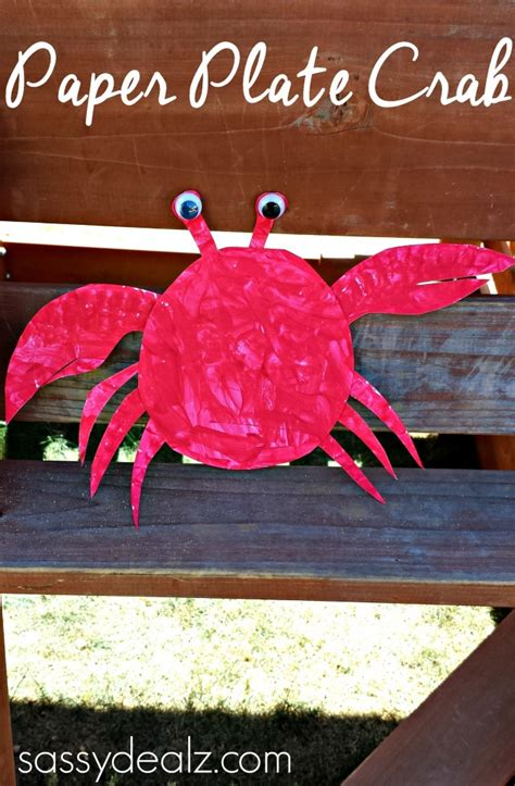 crab paper plate craft paper plate crab craft for crafty morning