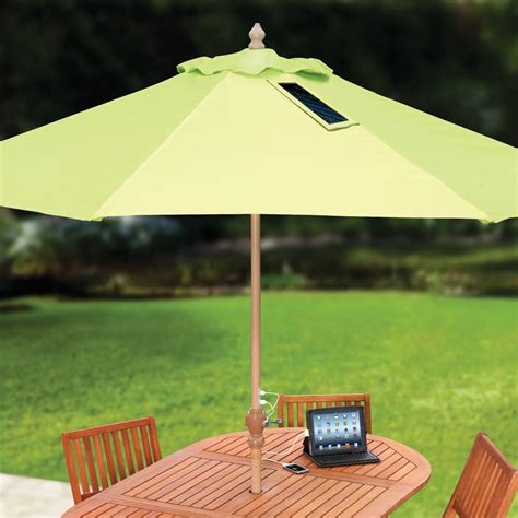 patio solar umbrella usb charging solar market umbrella the green
