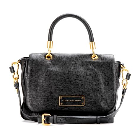 marc black leather tote marc by marc to handle small leather tote in black lyst