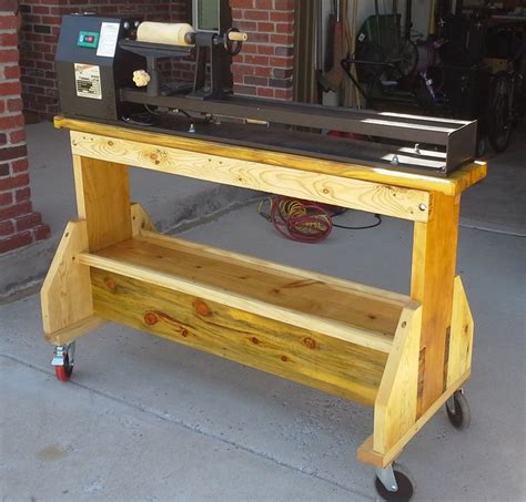 woodworking stand lathe stand by handsawgeek lumberjocks