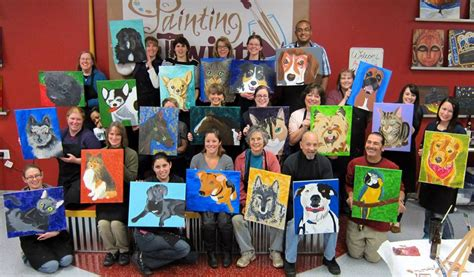 painting with a twist lansing paint your pet arbor animal hospital our staff