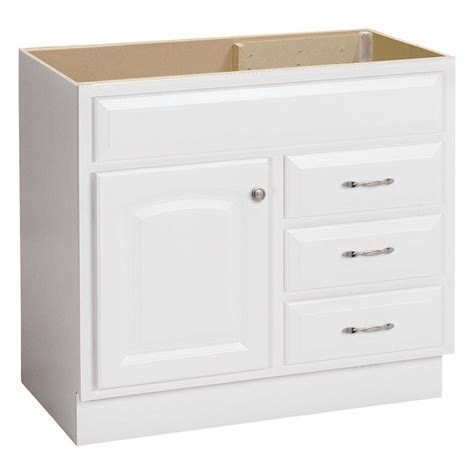 lowes white bathroom vanity shop project source white traditional bathroom vanity common 36 in x 21 in actual 36 in x 21