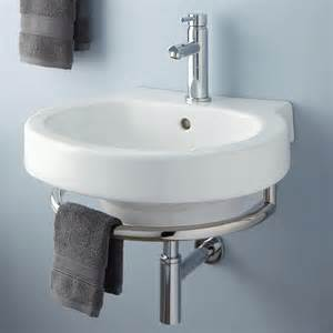wall mount kitchen sink alia wall mount sink with chrome towel bar bathroom