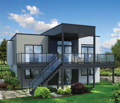 house lots traditional modern house plans for sloped lots modern