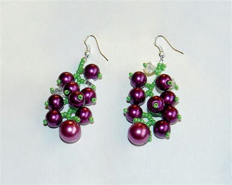 free beaded earring patterns beadsmagic free pattern for beaded earrings currant