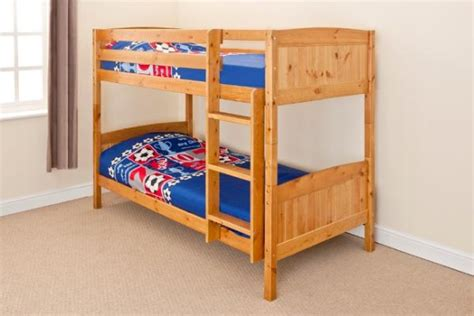 bunk beds that can be single beds 3ft single bunk bed wooden frame in pine white can split