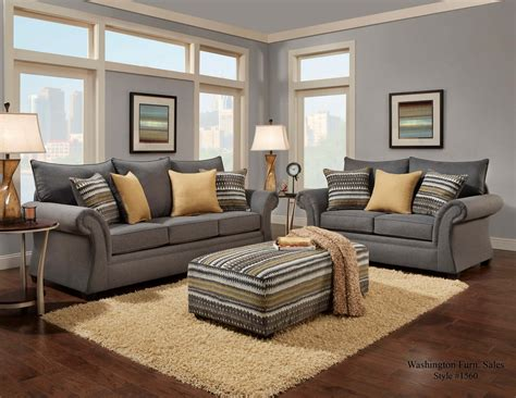 grey living room furniture set jitterbug gray sofa and loveseat fabric living room sets