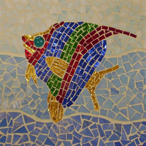 mosaic crafts for mosaic fish designs mosaic design technique this