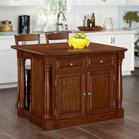 kitchen islands oak monarch oak kitchen island with seating 5006 9448 the home depot