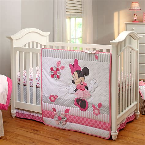 minnie mouse baby crib minnie mouse crib bedding set for baby personalizable