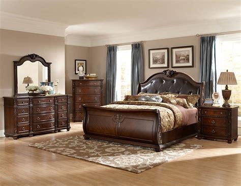 sleigh bed set homelegance hillcrest manor sleigh bedroom set cherry