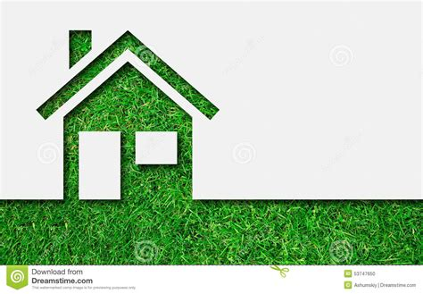 Free A Frame House Plans simple green eco house icon stock photo image 53747650