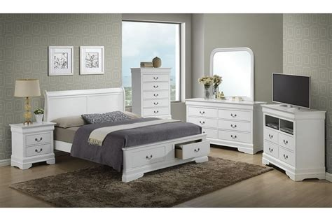 bedroom furniture storage modern white stained wooden bed with end storage drawer